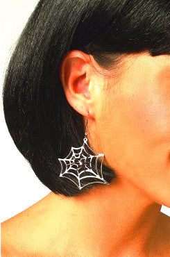 Black Widow Pierce Earrings