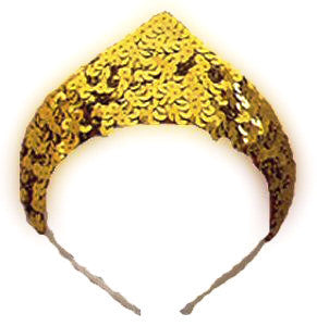 1 Point Sequin Tiara Gold