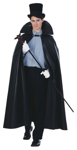 Black Leather Look Cape 63""
