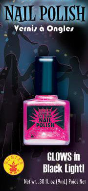 Pink Glow-in-the-Dark Nail Polish