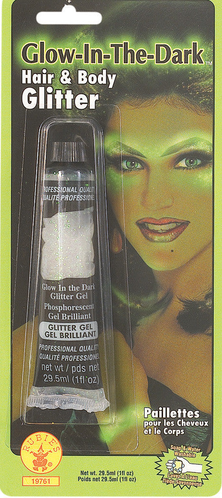 Glow-in-the-Dark Hair & Body Glitter Gel