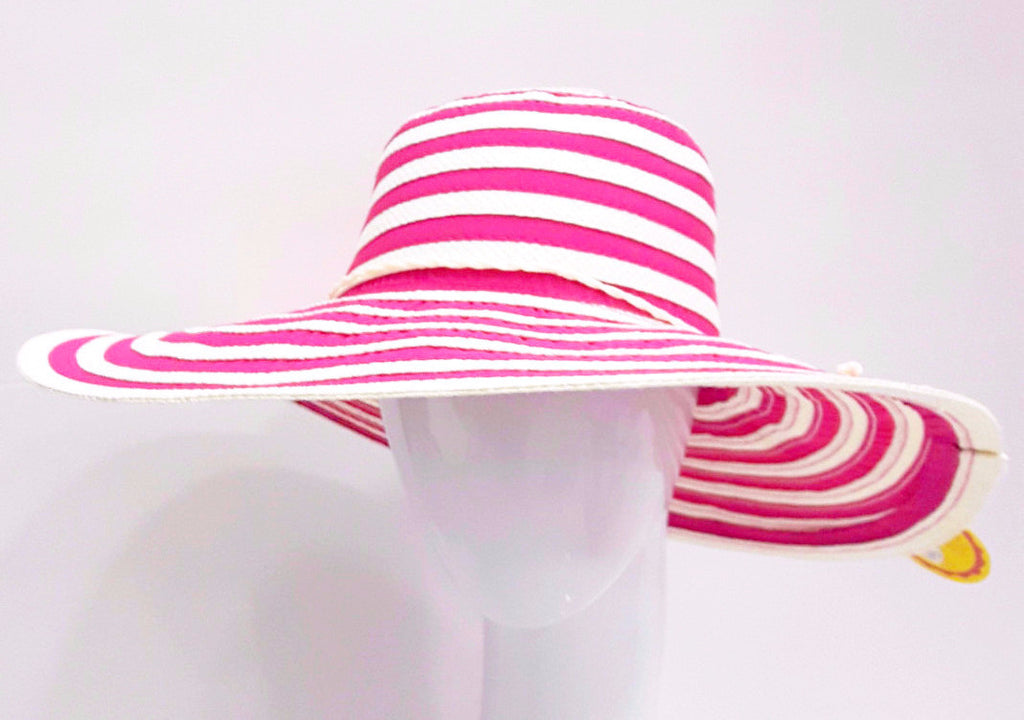 Two Tone Stripped 5'' Wide Brim Swinger with Twisted Band