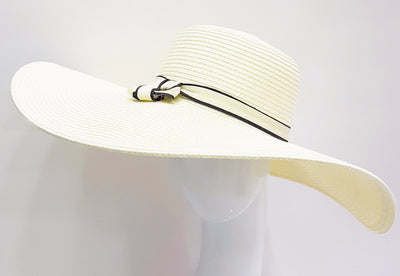 Braid Wide Brim Swinger with Ribbon Band 6'' Brim