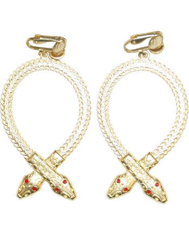 Cleopatra Snake Earrings Gold