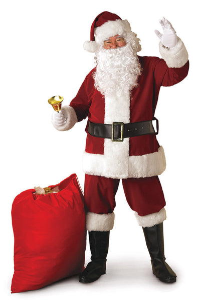 Crimson Regency Plush Santa Suit