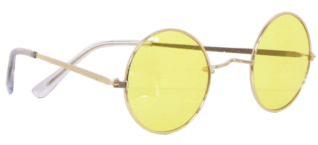 70's Round Glasses Yellow