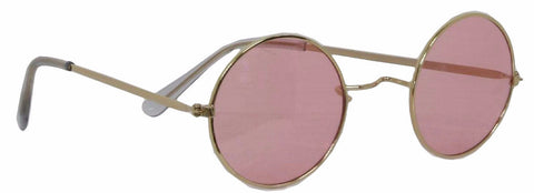 70's Round Glasses Pink