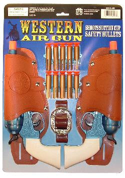 Western Air Pistol Double Holster Set