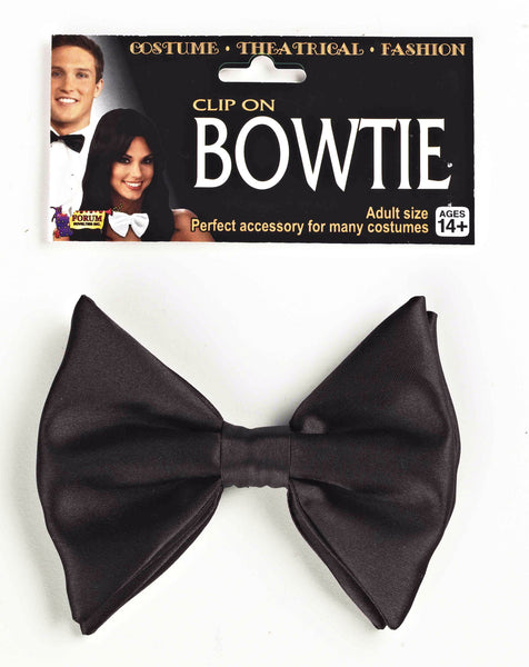 Bow Tie Formal Black Clip-On