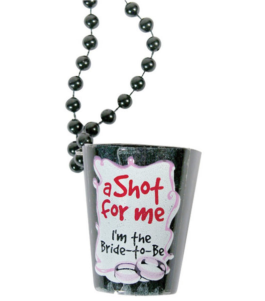 Bachelorette Shotglass Necklace Black