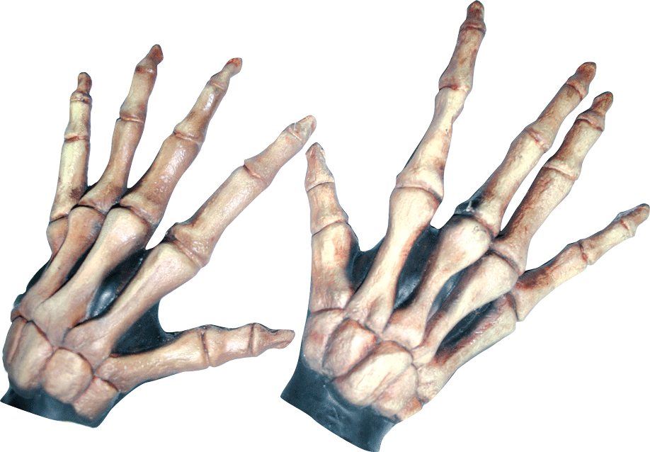 Large Skeleton Hands Bone-Colored