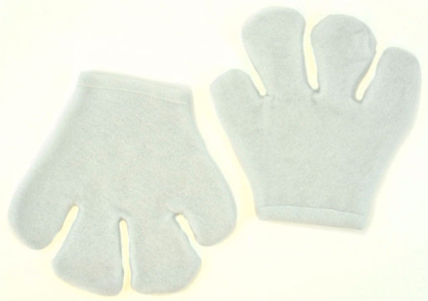 Cartoon Mitts Felt White