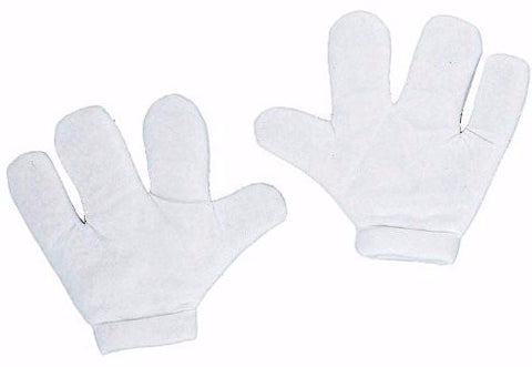 Foam Cartoon Mitts White