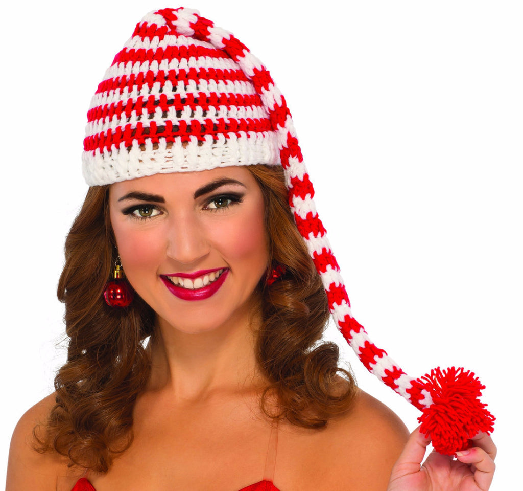 Candy Cane Striped Beanie