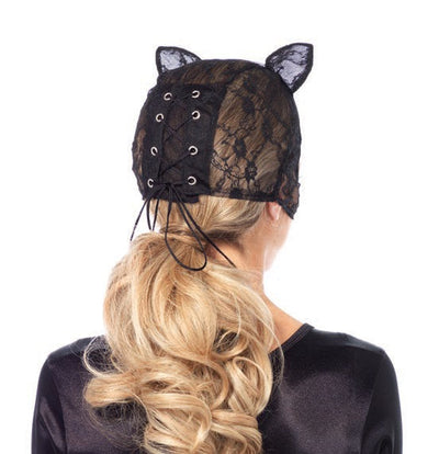 Lace Cat Mask with Lace Up Back