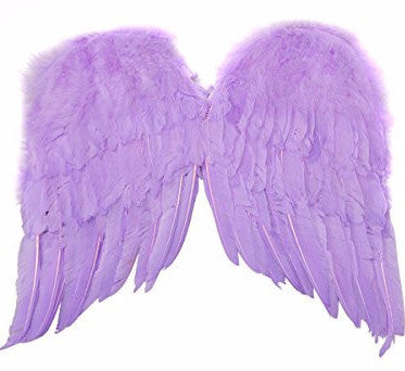 "Feather Wings 22"" Lavender"
