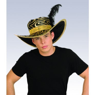 Slammin Pimp Hat Black/Gold