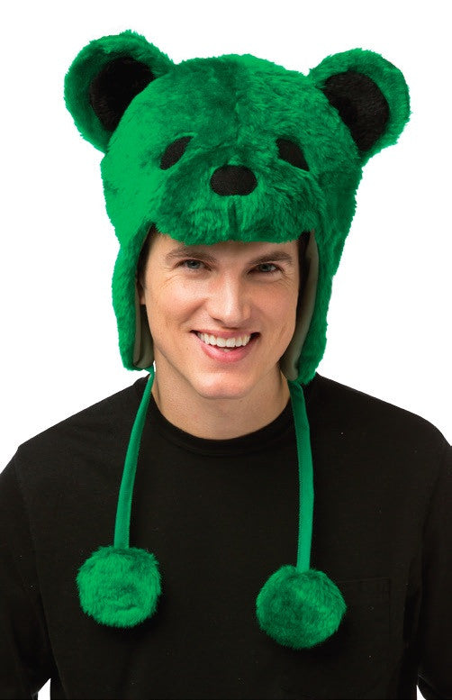 Grateful Dead Bear Hat Green