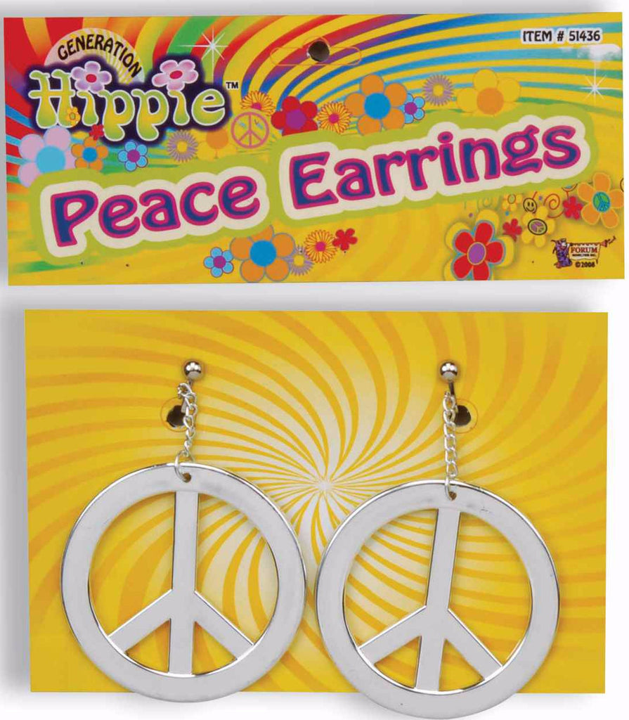 Peace Earrings Silver
