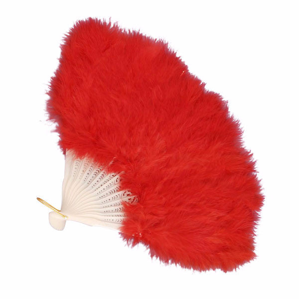 Feather Fan Red