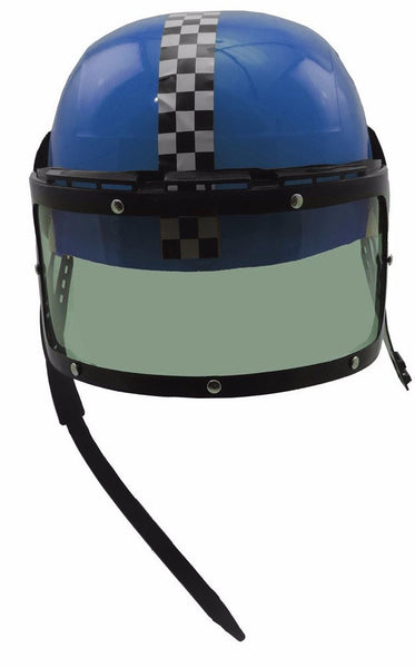 Blue Plastic Racing Helmet