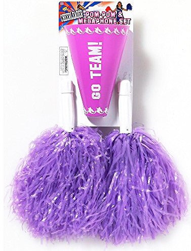 Cheerleader Pom/Pom & Megaphone Purple