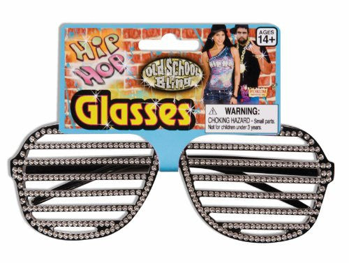 Rhinestone Slot Glasses Black
