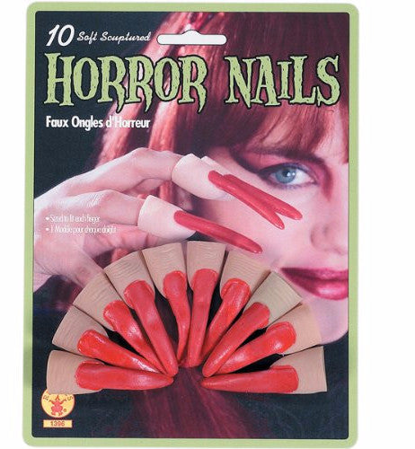 Rubber Horror Nails Red