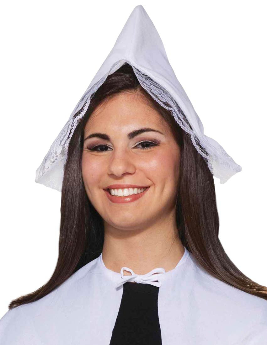 Lady Pilgrim Hat White - Mystique Costumes 038d9e6cfaa