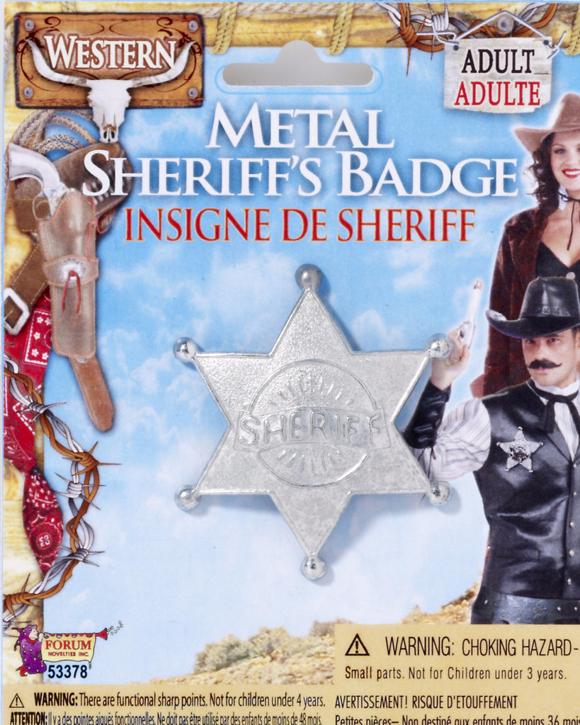 Metal Sheriff Badge