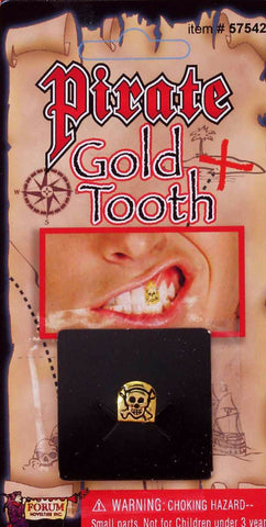 Pirate Gold Tooth with Skull