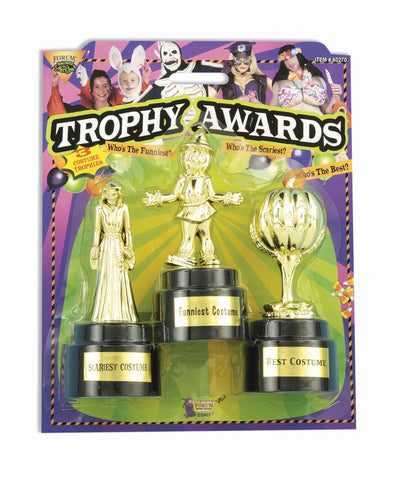 Halloween Costume Trophy Awards Gold