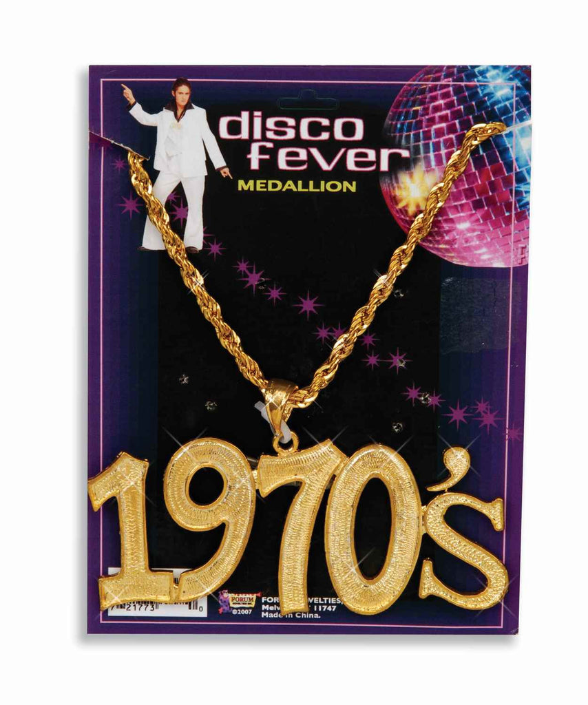Disco Fever 1970's Necklace Gold