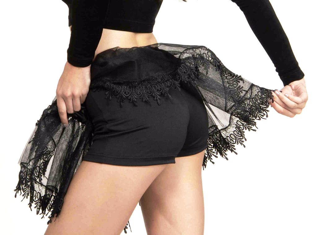 Black Hot Shorts