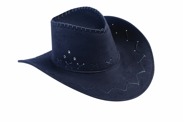 Cowboy Hat Black Faux Suede