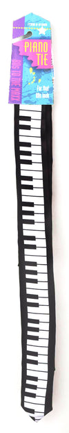 80's Piano Tie Black/White