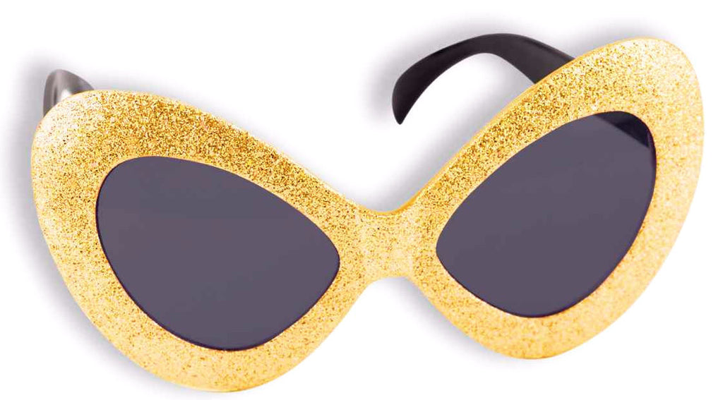 Mod Glitter Glasses Gold