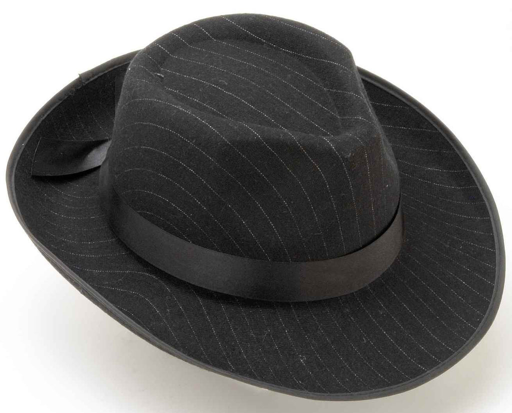 Pinstriped Fedora Hat
