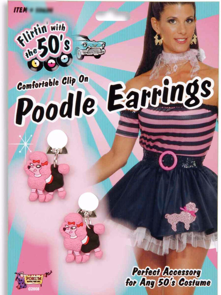 Pink Poodle Earrings