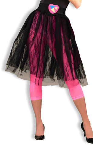 80's Pop Star Black Skirt