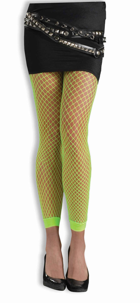 Neon Green Fishnet Leggings