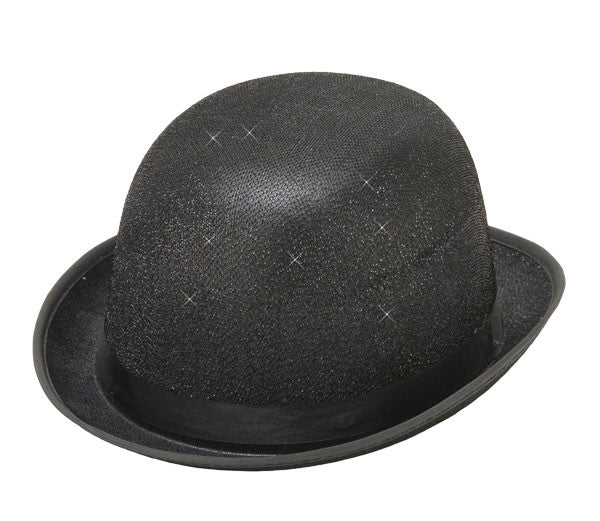 Glitter Mesh Derby Hat Black