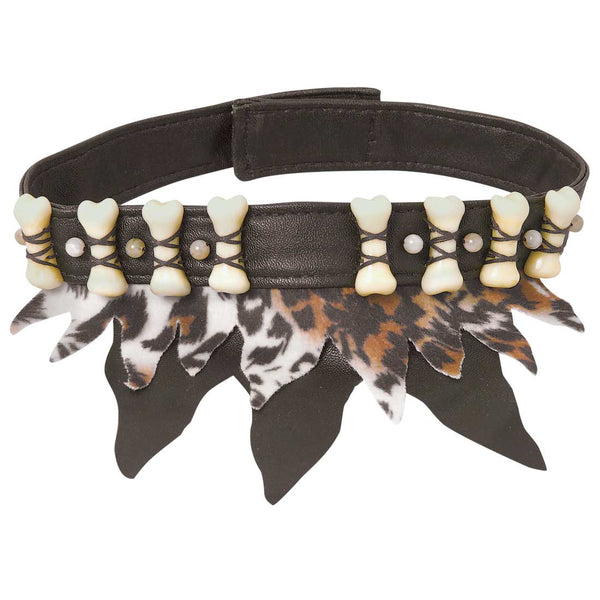 Bone and Leopard Choker