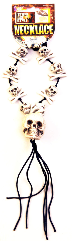 Stone Age Skull and Bones Necklace