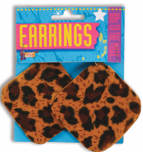 80's Leopard Earrings
