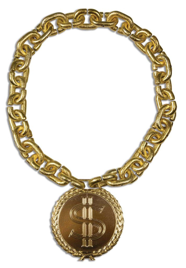 Hip Hop Jumbo Necklace with Medallion Gold