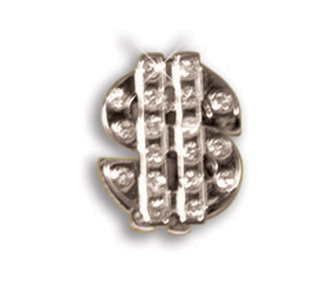 Dollar Sign Stud Earrings Silver