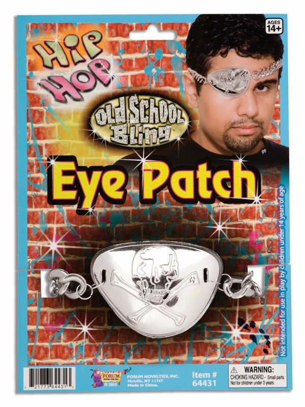 Hip Hop Chain Eye Patch Silver
