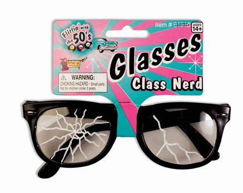 50's Cracked Nerd Glasses