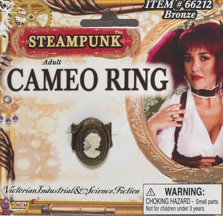 Steampunk Cameo Ring Bronze